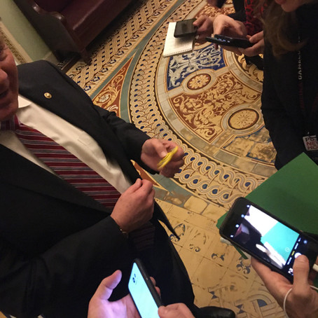 Republicans Are Fidgeting, Literally, At Senate Trial
