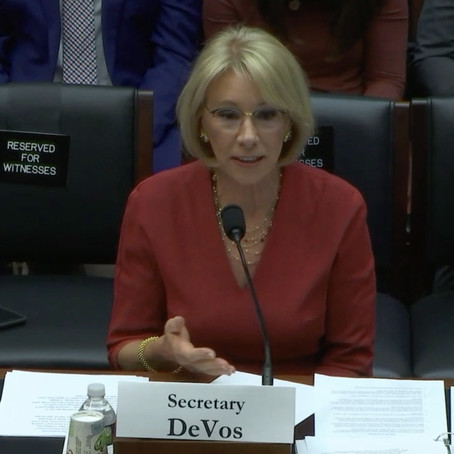 DeVos Came Unprepared To Congress