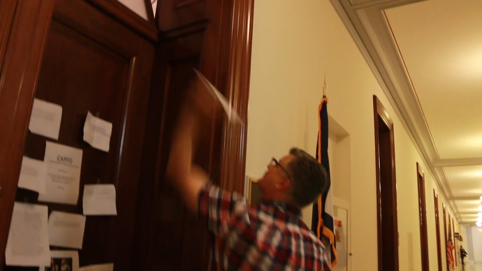 What Happens When A Senator Locks The Door On Constituents