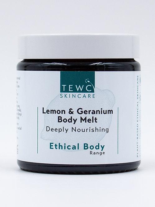 Lemon & Geranium Body Melt - 90g (RRP £14.00)