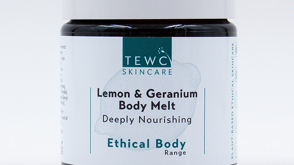 Lemon & Geranium Body Melt - 90g