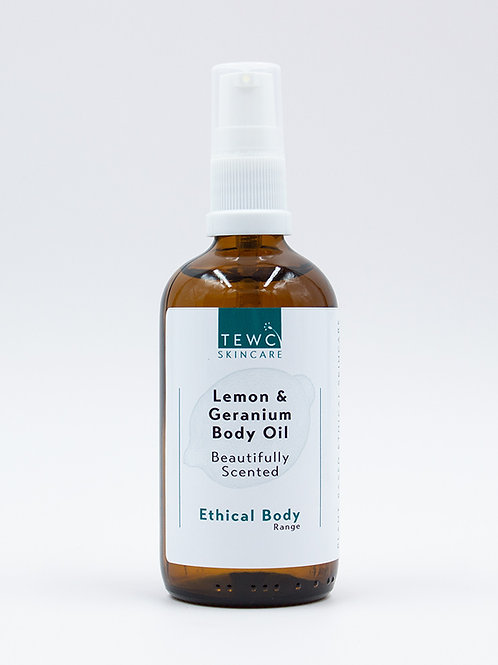 Body Oil - Lemon & Geranium - 90g (RRP £12.50)