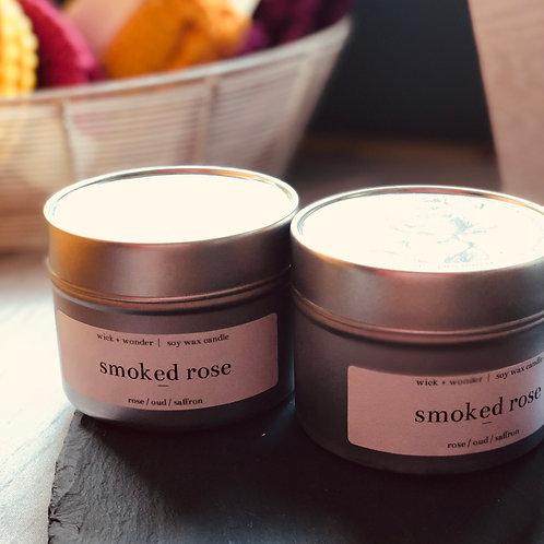 "Wick & Wonder ""Smoked Rose"" Candle"