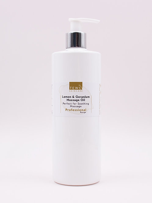 Lemon & Geranium Massage Oil - 450g