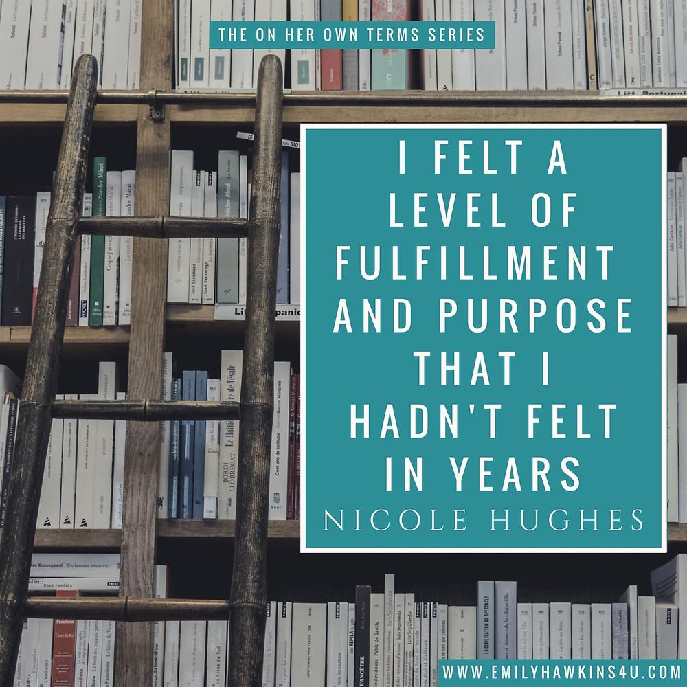 Nicole Hughes Quote