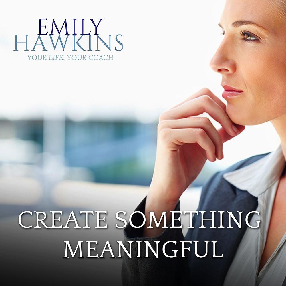 create something meaningful
