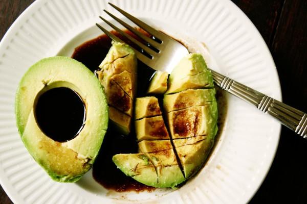 avocado and balsamic vinegar