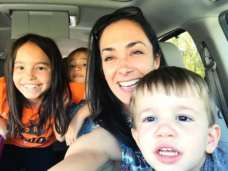 Nicole and her children