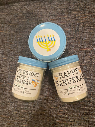 Hanukkah Themed Soy Candles