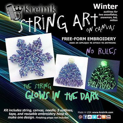 Winter - Glow in the Dark Embroidery Sticker