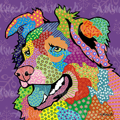 Dog Pop Art Prints A-D, by April Minech