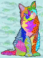 Cat with Bluefish