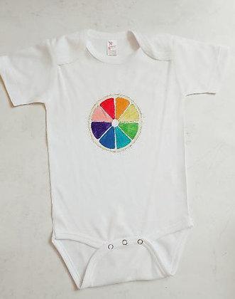 Colors of the Rainbow Onesie by Katya