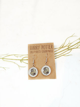 Harry Potter Inspired Hufflepuff Earrings (Other houses available)