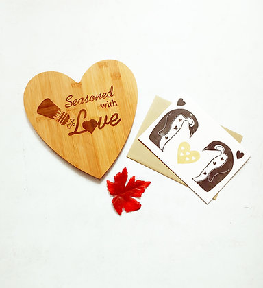 Penguin Heart Greeting Card by Winter Pickle Press