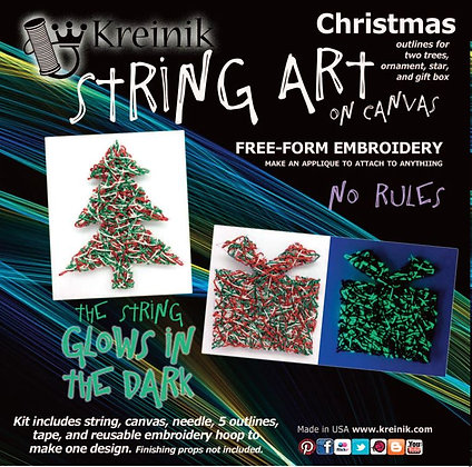 Christmas - Glow in the Dark Embroidery Sticker