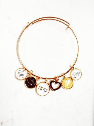 I Love Pittsburgh Bangle Bracelet