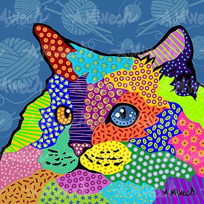 Persian Cat Pop Art Shirt by April Minech