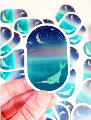 Waterproof Dreamy Narwhal Sticker