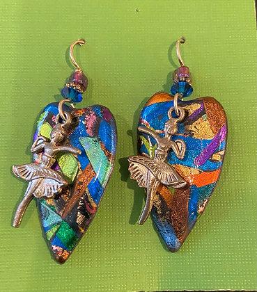 Dancer Heart Earrings by Cathy Frank