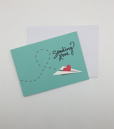 Sending Love, greeting card by Sweet Baby Paper Company