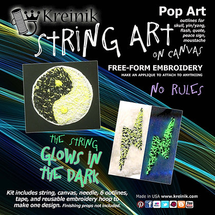 Pop Art - Glow in the Dark Embroidery Sticker