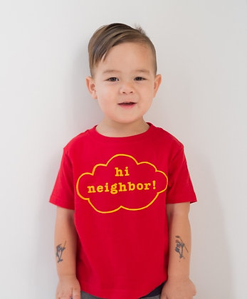 """Hi Neighbor"" Red T-shirt"