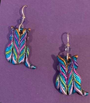 Cat Earrings by Cathy Frank