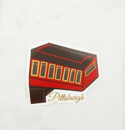 Waterproof Vinyl Pittsburgh Incline Sticker