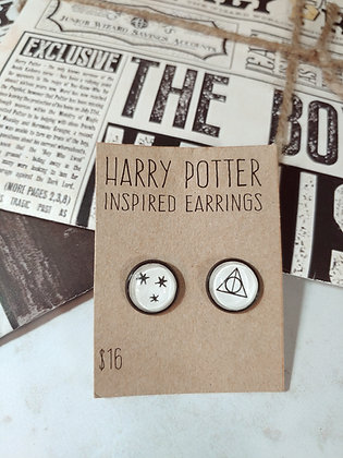 Harry Potter Inspired Deathly Hallows Post Earrings