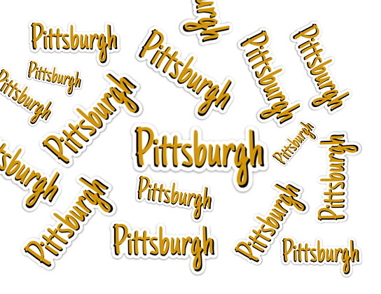 Waterproof Vinyl Pittsburgh Sticker | Free Shipping