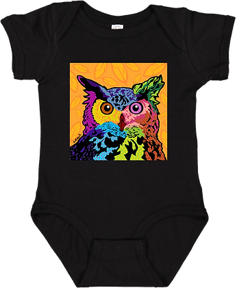 Animal Pop Art Onesie, by April Minech