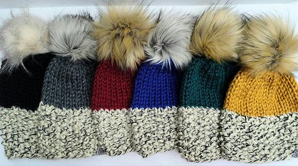 Lola Knit 2 Tone Hat by Busy Hook Happy Heart