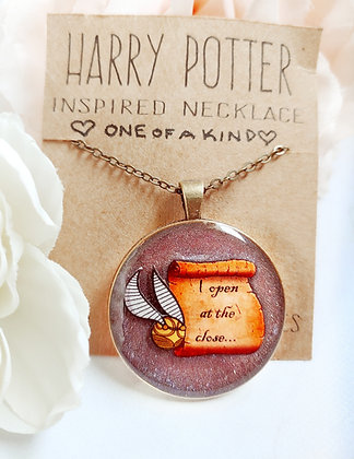 One of a Kind Harry Potter Inspired Golden Snitch Necklace