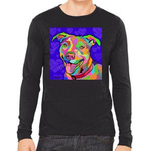 Dog Pop Art, long or short sleeve shirts F-P - by April Minech