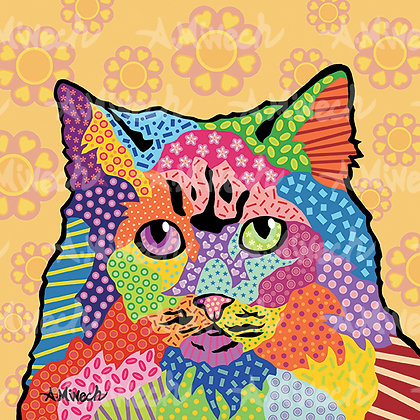Cat Gigi Pop Art Shirt by April Minech