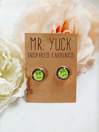 Mr. Yuk Inspired Earrings