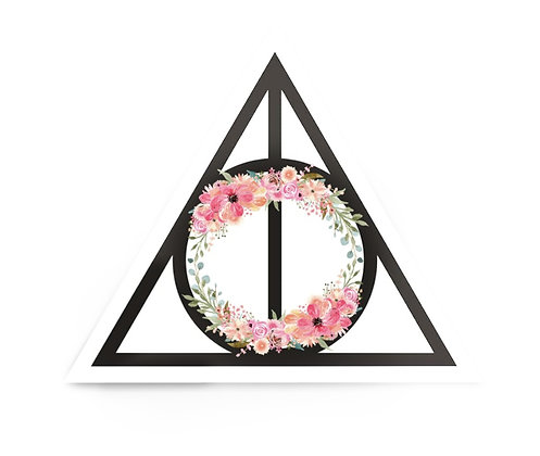 Harry Potter Inspired Deathly Hallows Sticker