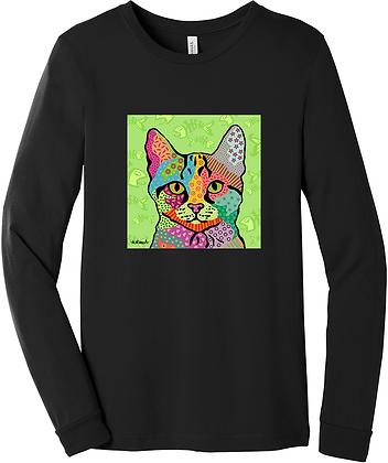 Cat Pop Art, long or short sleeve shirts, by April Minech