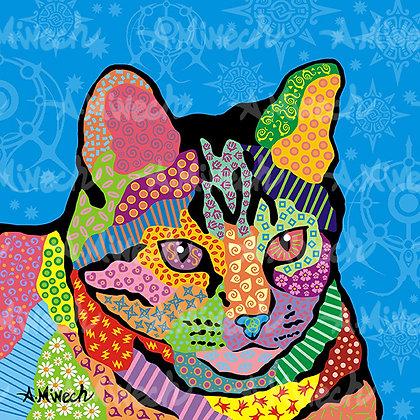Merlin Cat Pop Art Shirt by April Minech