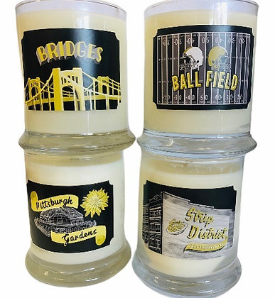 Pittsburgh Themed Soy Candles