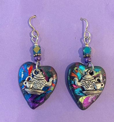 Teapot Heart Earrings by Cathy Frank