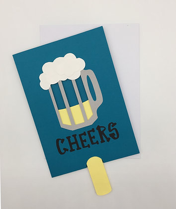 Cheers to You Beer Mug, greeting card by Sweet Baby Paper Company