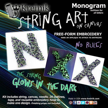 Monogram - Glow in the Dark Embroidery