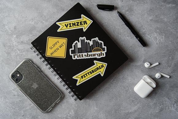 Waterproof Vinyl Pittsburgh Skyline Sticker |  Pittsburgh