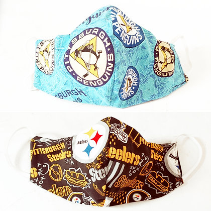 Women's Reversible Pittsburgh Inspired Face Mask | Ready to Ship