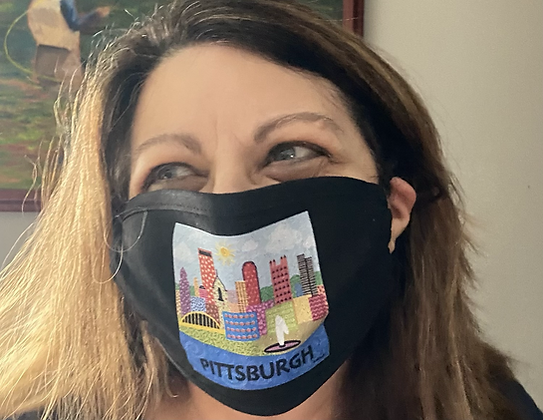 Pittsburgh Pop Art Mask by April Minech