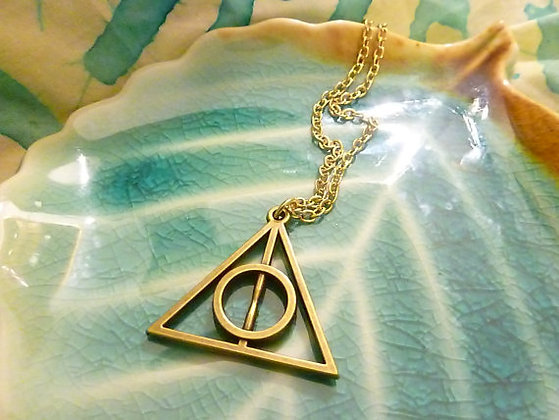 Harry Potter Deathly Hallows Inspired Necklace