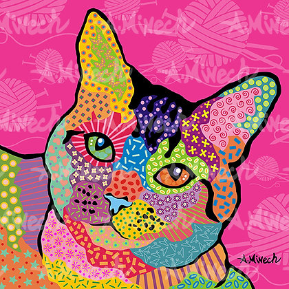 Dolly Cat Pop Art Shirt by April Minech