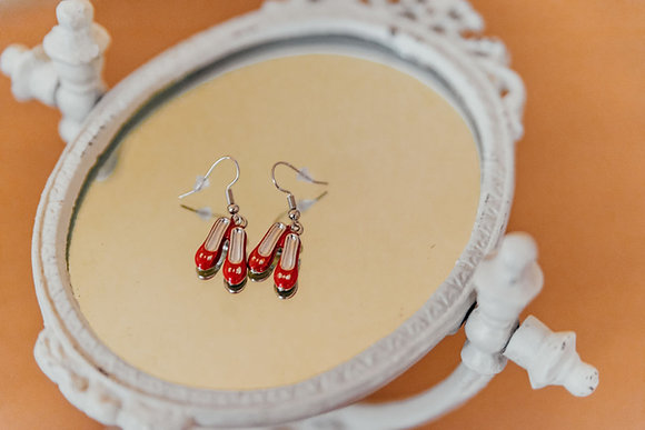 Wizard of Oz Red Ruby Slipper Earrings